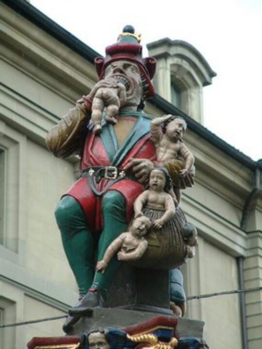 Man eating babies