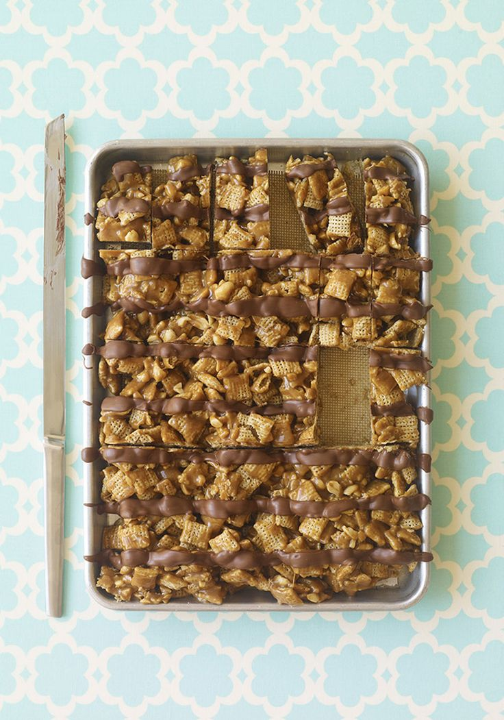 , peanut butter, peanuts and chocolate), salty and sweet, these bars ...