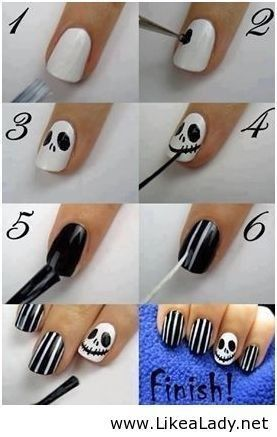 Jack Halloween Nails