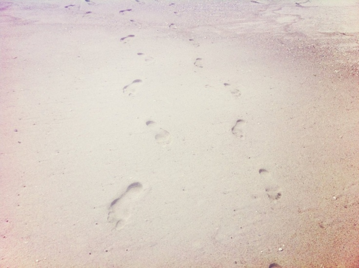 Footprints in the sand. Photo by Natalie Obradovich.