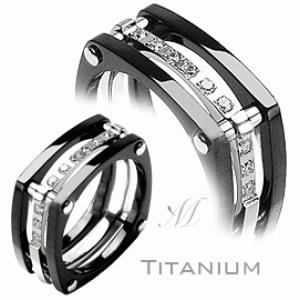 Titanium ring with lab diamonds ring pinterest
