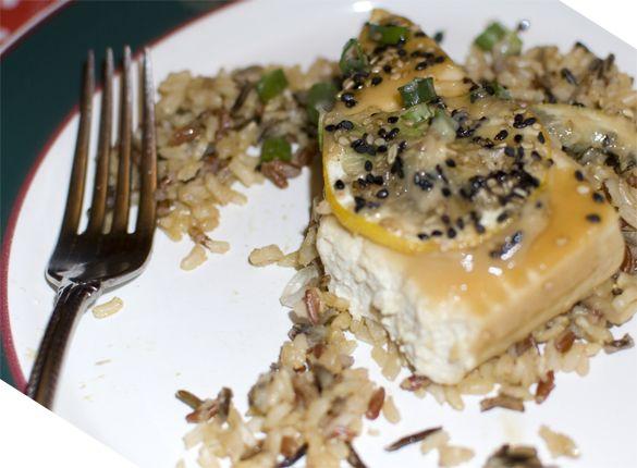 Green Tea & Miso Glazed Tofu | vegan | Pinterest