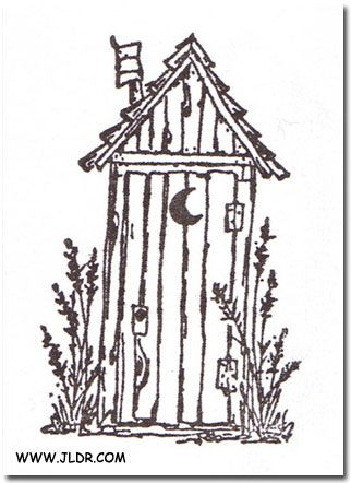 outhouse line drawings - Google Search | clip art | Pinterest