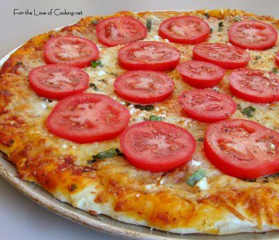 For the Love of Cooking » Tomato, Basil, Feta and Garlic Pizza