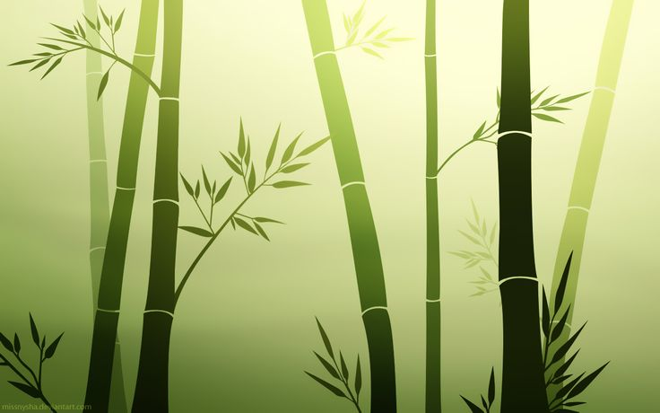 Zen Bamboo Wallpaper -- Found on DeviantArt. Love how simple the image is and the use of the colors.