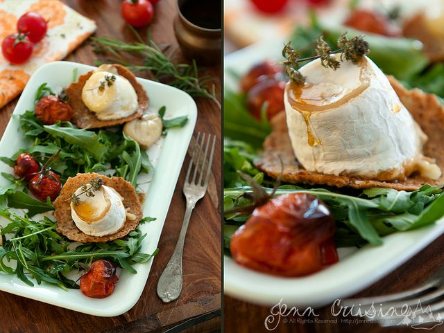 baked goat cheese with raspberries and thyme baked goat cheese with ...
