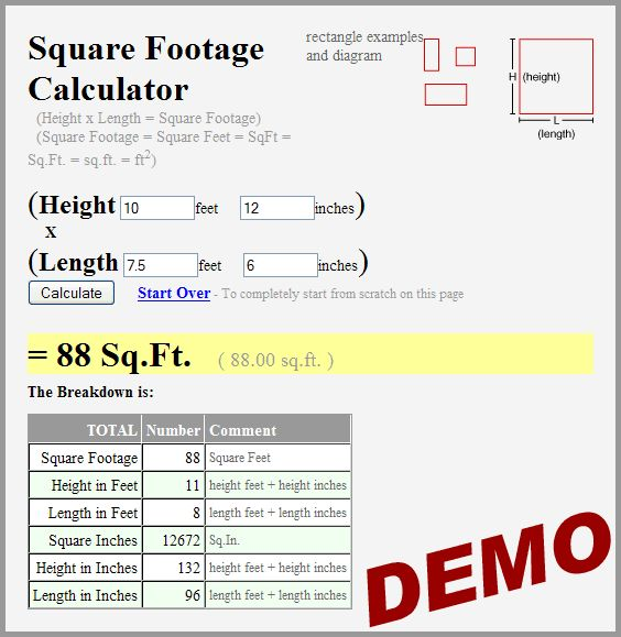 How to calculate square feet big women fuck How to calculate room size in square feet