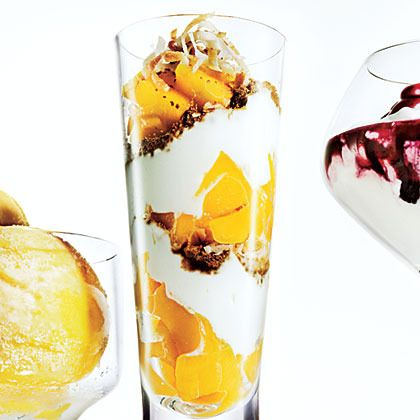 Mango-Ginger Parfaits by Cooking Light | American Desserts | Pinterest