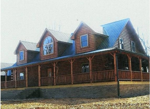 Log Home With Wrap Around Porches For The Home