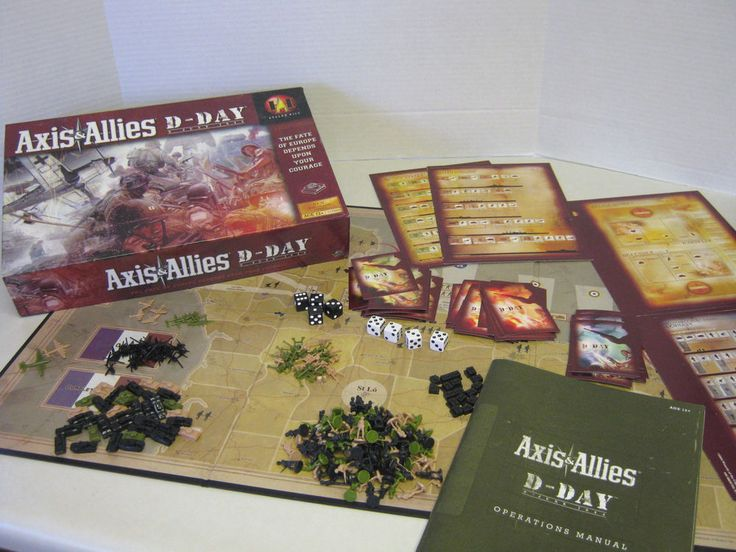 axis and allies d day board