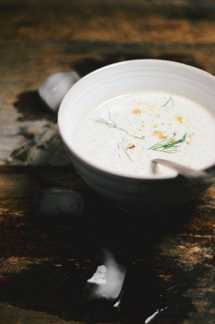 chilled cucumber walnut yogurt soup   Perfectly Dishy   Pinterest