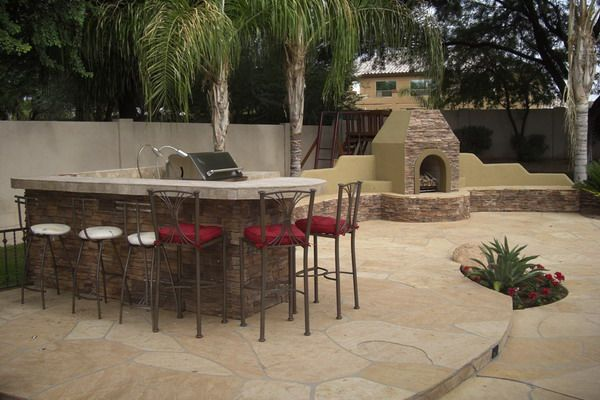 Design ideas arizona backyard landscaping pictures kim for Outdoor barbecue design ideas