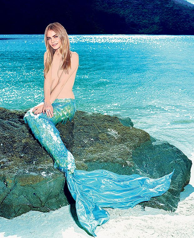 Cara Delevingne as a mermaid