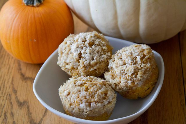 Pumpkin-Oat Muffins - 7 by Sugarcrafter | foodie. | Pinterest