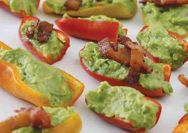 Guacamole Bacon Stuffed Pepper Poppers | Recipe