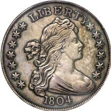 1804 silver US dollar