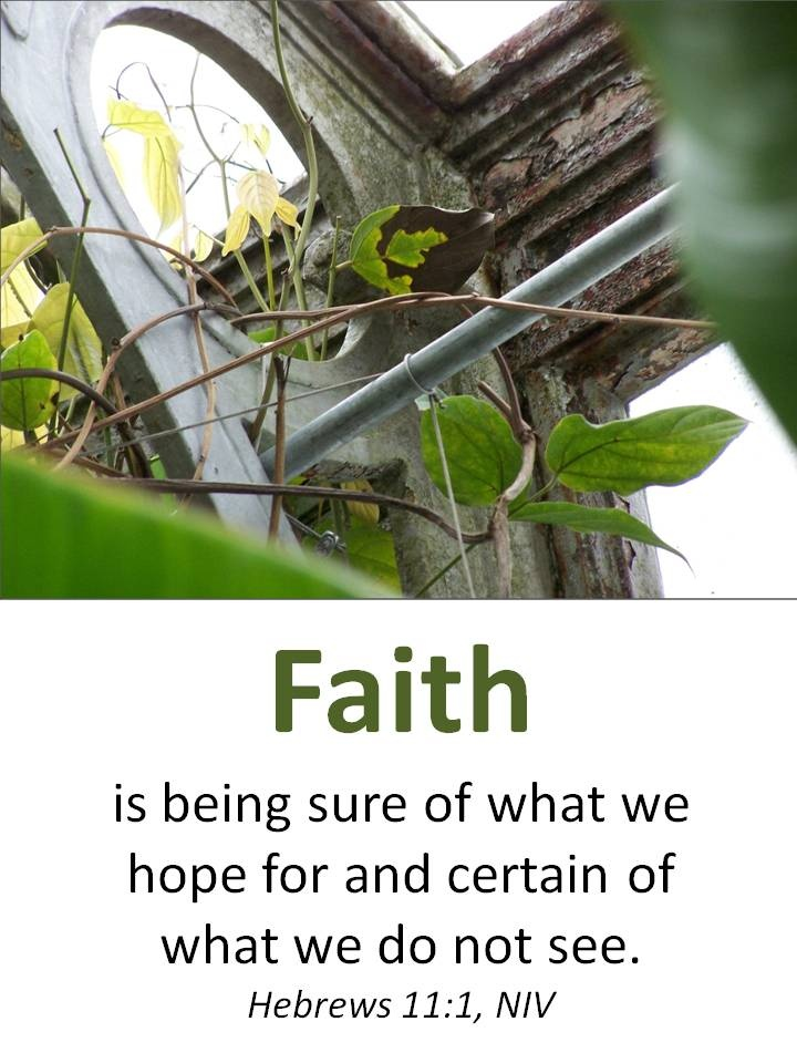 "faith is being sure of what we hope The niv translates it as, ""now faith is confidence in what we hope for and   versions translate hypostasis as ""being sure"", as ""confidence"", or as."