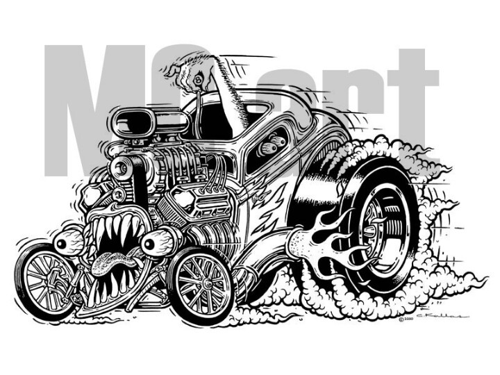 Monster Hot Rod Tattoo Ideas Pinterest