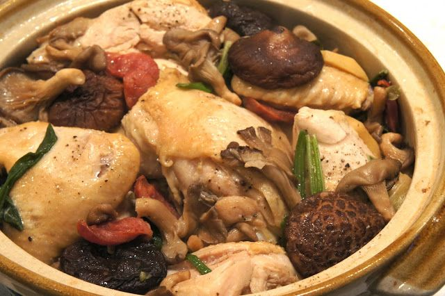 ... with photos | Clay Pot Chicken with Chinese Sausage and Mushrooms