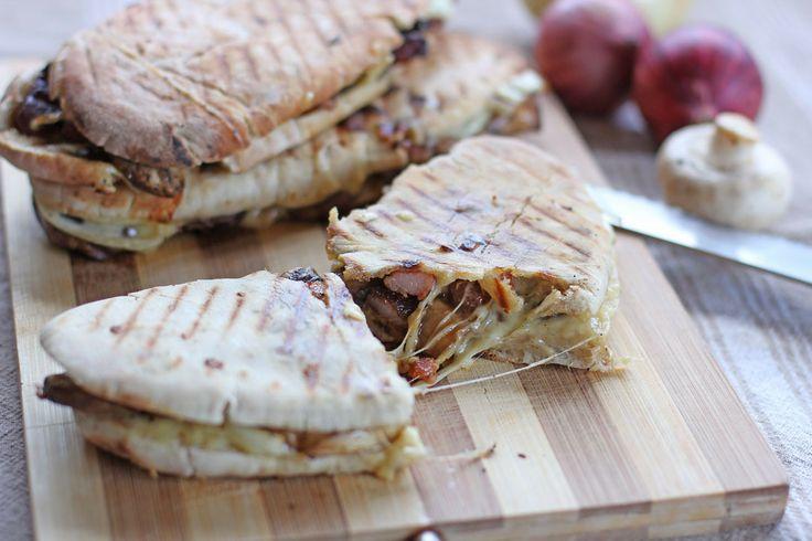 Bacon Mushroom Mozzarella Melt Panini by Ang Sarap