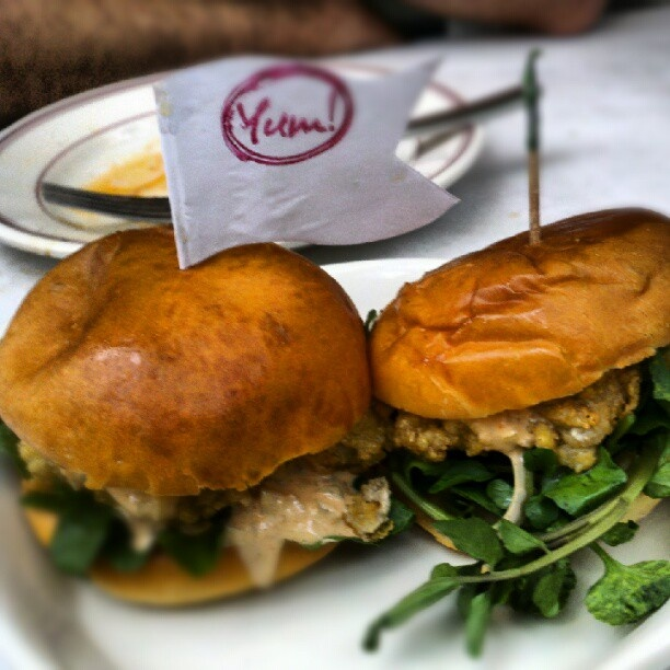 Lure's fried oyster sliders. | Stuff I like | Pinterest