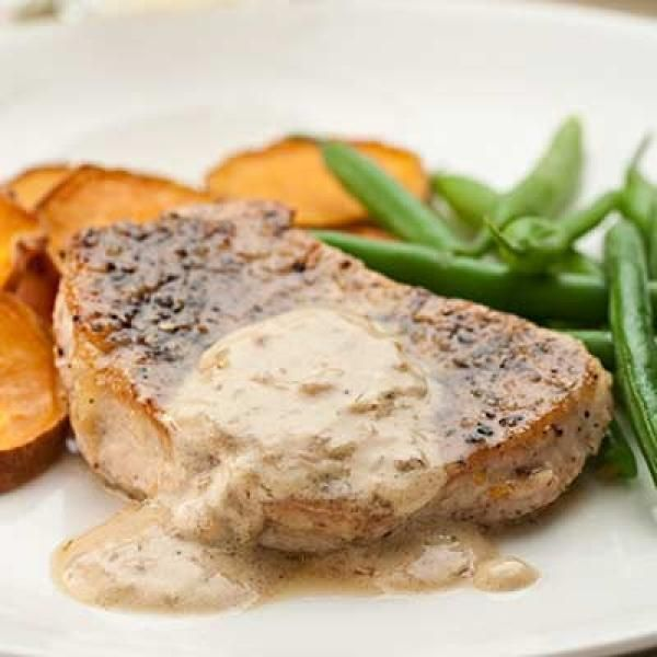 Pork Chops au Poivre | KitchenDaily.com