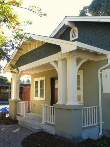 Bungalow Front Porch Renovation Details Our Painted