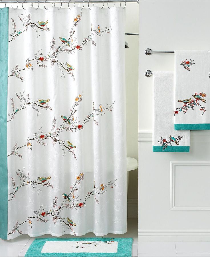 Extra Wide Curtain Rods Bird Shower Curtain