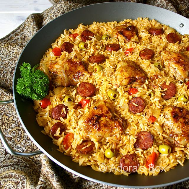 Chorizo & Chicken In Spanish Rice | Chicken, Chicken and MORE Chicken ...