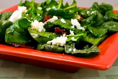 Spinach Salad with Bacon & Feta | Food | Pinterest