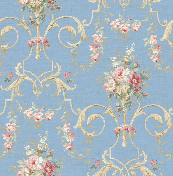 Wallquest French Linen Collection | Cottage Style | Pinterest