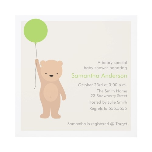 teddy bear baby shower invitations pinterest