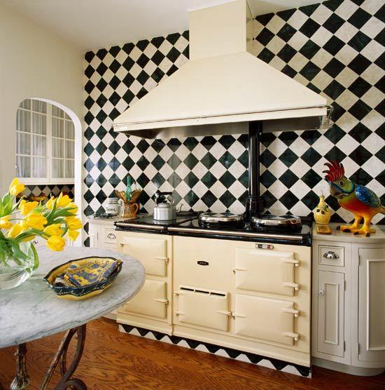 checkerboard tile backsplash backsplashes pinterest