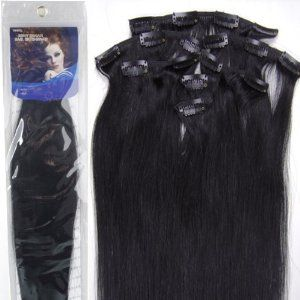 20inch 7pcs Straight Remy Clip in Real Human Hair Extensions