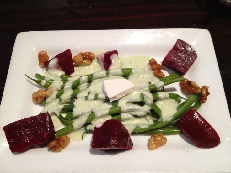 ... Alicante, Palm Springs. Green beans, beets, Laura Chanel goat cheese