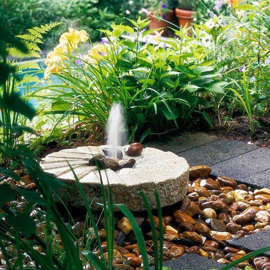 Fountains Backyard Ideas : Millstone Fountaingarden fountain ideas