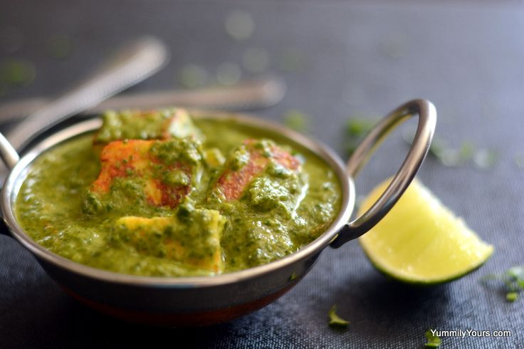Saag Paneer - One of my favorite Indian dishes! - Uses Paneer cubes ...