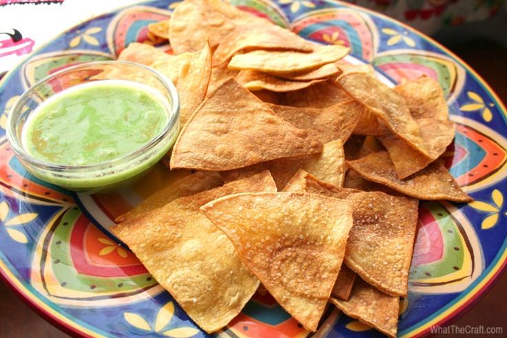 Recipe: Homemade Baked Tortilla Chips