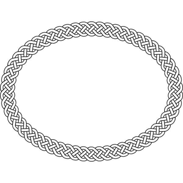 Plait Border Oval liked on PolyvoreOval Celtic Knot Border