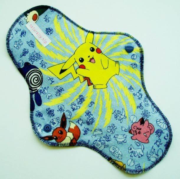 Gadget WTF du jour – La serviette hygiénique Pokemon réutilisable