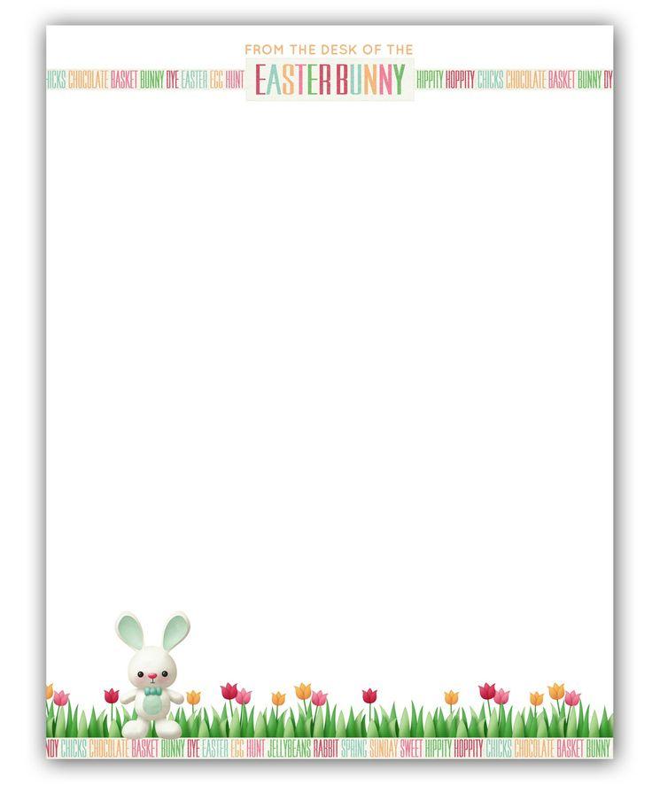 Easter Bunny Stationary | Free Printable | Easter/Spring | Pinterest
