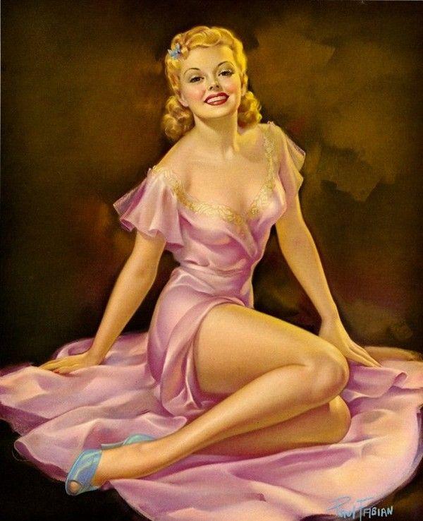 blonde pin up girl