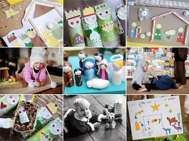 Kids craft nativities