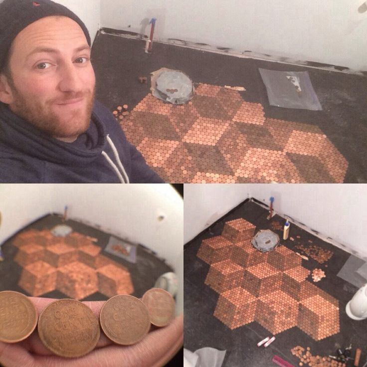 Floor made of coins flooring pinterest - Floor made out of pennies ...