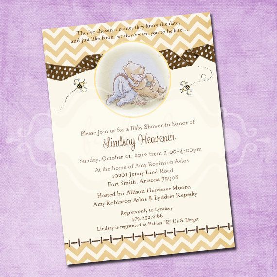 Winnie The Pooh Baby Shower Invitation is nice invitations example