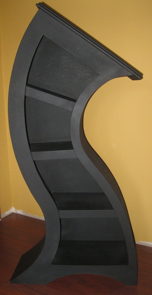 FREE SHIPPING, Handmade 4ft Curved Shelf, Flat Black. $450.00, via Etsy.