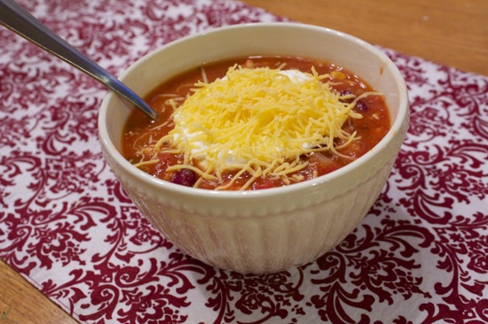 "Crock Pot ""Wendy's"" Turkey Chili"