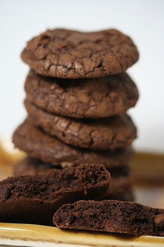 Dark-Chocolate Cookies with Espresso | Cookies | Pinterest