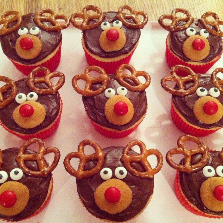 Rudolph the Red-nosed Reindeer cupcakes | Katie's Bakies | Pinterest