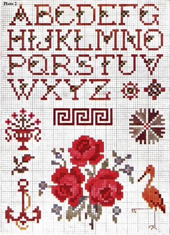 Crochet Needle Work : free crochet crosstitch the priscilla colored cross stitch book no 1